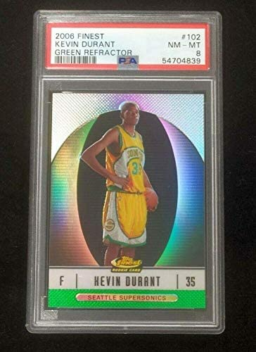 Read more about the article 2006 Topps Finest #102 Kevin Durant Rookie RC Green Refractor /199 PSA NM-MT 8 – Basketball Slabbed Rookie Cards