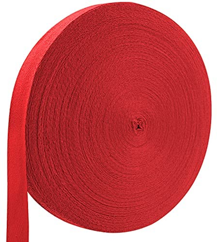 Read more about the article Teemico 1 Roll of 55 Yards Natural Cotton Twill Tape Ribbon Herringbone Ribbon for Sewing Reinforce Seams DIY Crafts Wrapping(Red, 2cm)