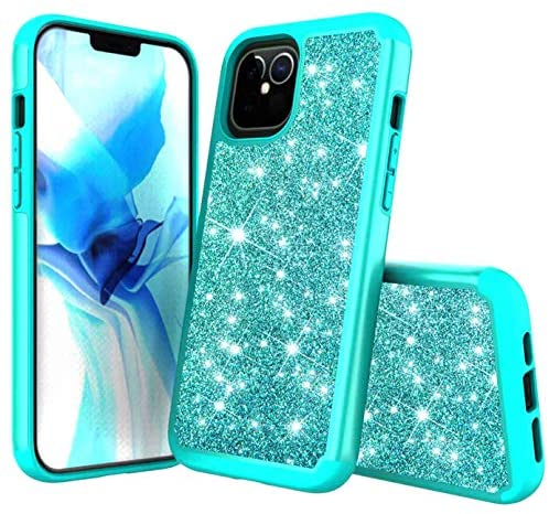 Read more about the article CaseHQ Case Compatible with iPhone 12 Mini Case 5.4 inch, (2020),Dual Layer Rugged Bumper,Bling Sparkly Glitter Shiny TPU Rubber Slim Fit Drop Protection Shockproof Cover-Teal