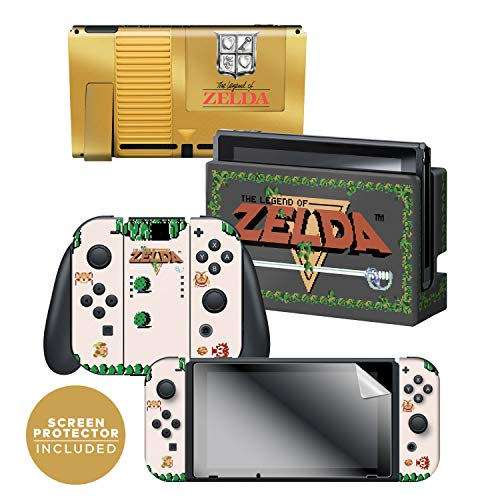 Read more about the article Controller Gear Officially Licensed Nintendo Switch Skin & Screen Protector Set – The Legend of Zelda – Gold Cartridge – Nintendo Switch