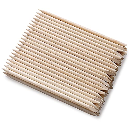 Read more about the article 100Pcs Orange Wood Sticks for Nails, HOOMBOOM Double Sided Cuticle Pusher Remover Nail Art Manicure Pedicure Tool for Manicure Pedicure