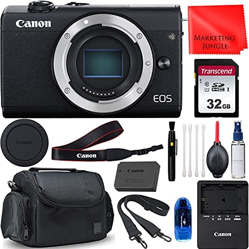 Read more about the article Canon EOS M200 Mirrorless Digital Camera Body Bundle (Black) vlogging Camera + Memory Card, Gadget Bag, Cleaning Kit and More