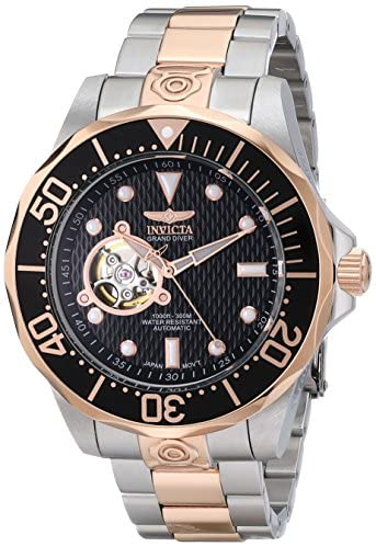 Read more about the article Invicta Men's 13708 Grand Diver Automatic Black Textured Dial Two-Tone Stainless Steel Watch