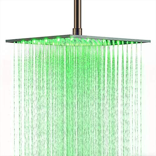 Read more about the article BULUXE 16 Inch LED Square Shower Head in Brushed Nickel, Modern Luxurious 16″ Stainless Steel Ceiling Mounted Rain Shower head (Brushed Nickel)