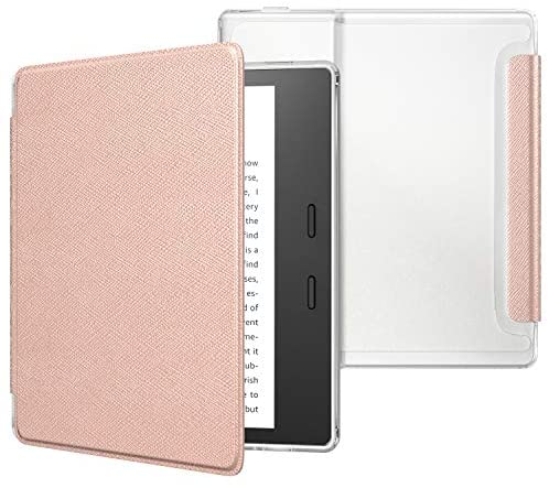 Read more about the article MoKo Case Fits All-New Kindle Oasis (9th and 10th Generation ONLY, 2017 and 2019 Release), Slim Lightweight Cover with Translucent Frosted Back Protector – Rose Gold