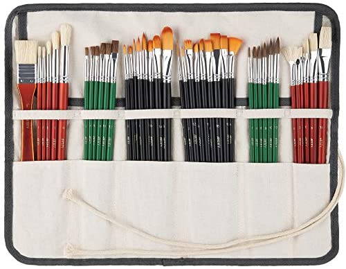 Read more about the article ARTIFY 41 Pcs Expert Series Long Handle Paint Brushes Art Set for Acrylic Oil Watercolor Gouache, a Kit of Hog Bristle Horse Hair Synthetic Nylon Hairs with a Carrying Canvas Roll Pouch