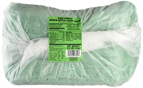 Read more about the article Sour Power Unwrapped Belts, Green Apple (approximately 297-count,unwrapped) Belts, 6.6-Pound Package, 105.6 Ounce