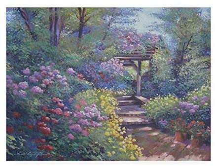 Read more about the article Trademark Fine Art Garden Path in Soft Light by David Lloyd Glover, 35×47
