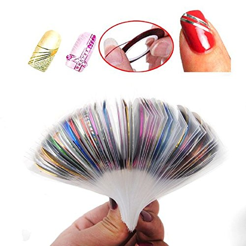 Read more about the article Tape Nail Art Striping Tape Line Nail Art Decoration Sticker Adhesive Sticker Nail Foil Tips DIY Design Tool (30 Bright color)