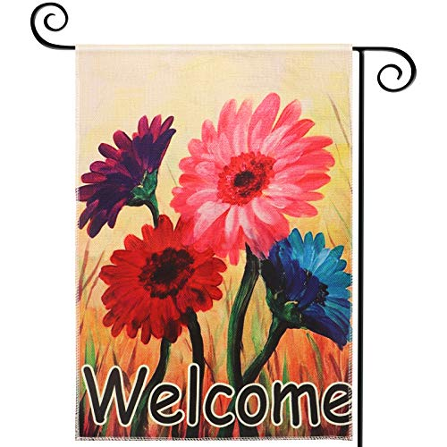 Read more about the article Spring Garden Flags Welcome 12.5×18 Inches Prime Double Sided Vertical Welcome Marigolds Flowers Floral Small Yard House Garden Flag for Outside Patio Lawn Fall Halloween Thanksgiving Christmas Decorations