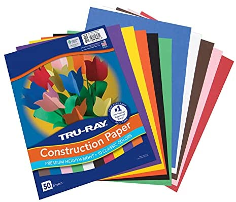 Read more about the article Tru-Ray Construction Paper, 10 Classic Colors, 9″ x 12″, 50 Sheets