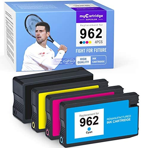 Read more about the article myCartridge SUPCOLOR Remanufactured Ink Cartridge Replacement for HP 962 962XL to use with OfficeJet 9010 9015 9018 9029 9028 9027 9026 9025 9020 9012 Printer Ink (Black Cyan Magenta Yellow, 4-Pack)