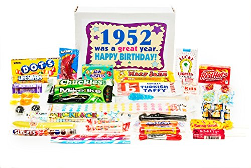Read more about the article Woodstock Candy ~ 1952 69th Birthday Gift Box Nostalgic Retro Candy Mix from Childhood for 69 Year Old Man or Woman Born 1952 Jr