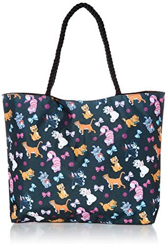 Read more about the article Disney Tote Travel Bag Cats Print: Figaro Cheshire Oliver & Co Marie Aristocats