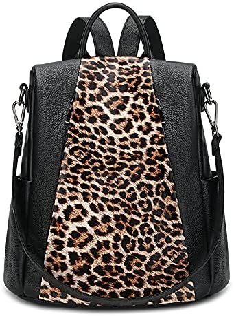 Read more about the article Yaluxe Backpack Purse for Women Anti-Theft Leopard Genuine Leather School Travel Daypack