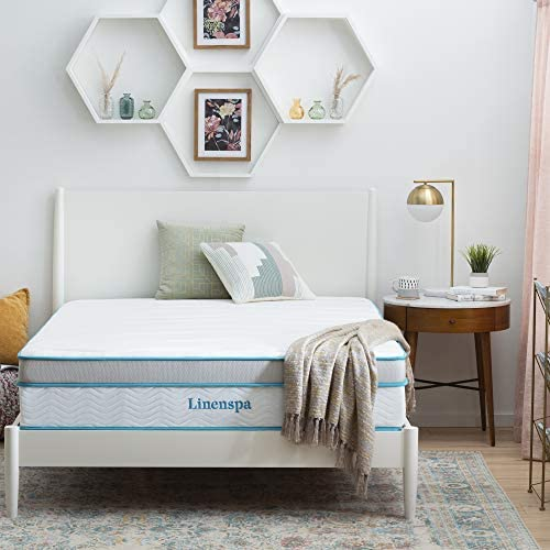 Read more about the article Linenspa 12 Inch Memory Hybrid Plush-Individually Encased Coils-Edge Support-Quilted Foam Cover Mattress, Queen, White