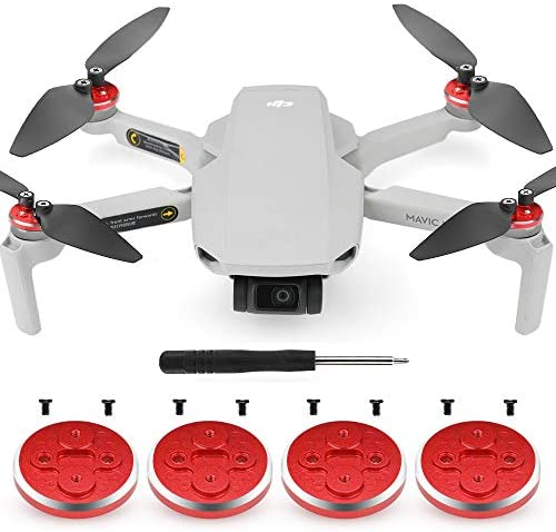 Read more about the article 4 PCS Mavic Mini Drone Motor Cover Cap+8 Screws+A Phillips Screwdriver,CNC Aluminum Motor Protective Case Scratchproof Dustproof Propellers Raise Pad Compatible with DJI Mavic Mini(Multifunctional Red