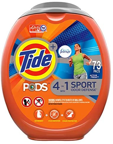 Read more about the article Tide PODS 4 in 1 Febreze Sport Odor Defense, Laundry Detergent Soap PODS, High Efficiency (HE), 73 Count
