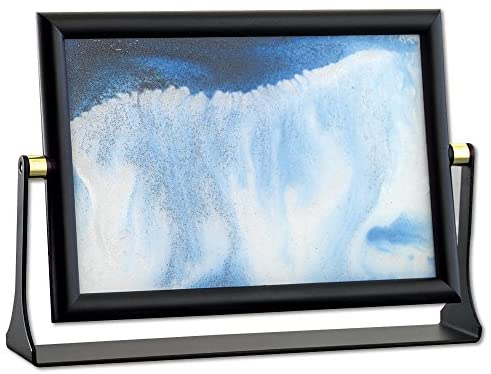 Read more about the article Bits and Pieces – Sand In Motion (8″x 5-5/8″)- Blue Sand Waves Moving Art – Sand Picture – Soothing Motion of Drifting Sandscape- Endless Fun For Every Desktop Art
