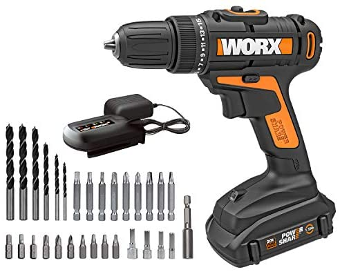 Read more about the article WORX WX101L.4 20V Cordless Drill Driver with 30 Drilling&Driving Bit Set Battery and Charger Included