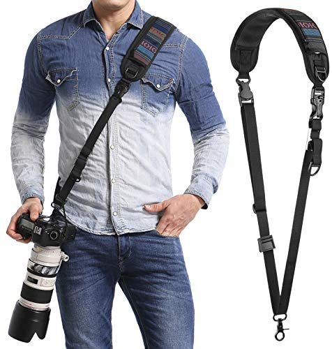Read more about the article waka Camera Neck Strap with Quick Release and Safety Tether, Adjustable Camera Shoulder Sling Strap for Nikon Canon Sony Olympus DSLR Camera – Retro