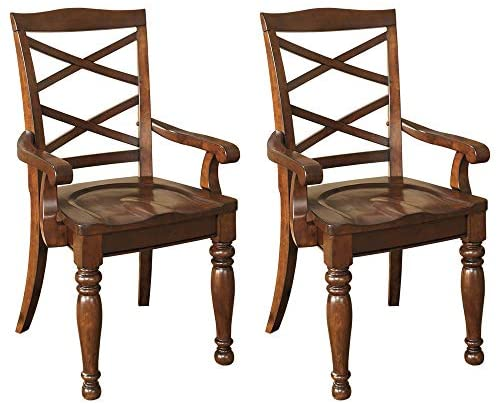 Read more about the article Signature Design by Ashley Porter Dining Room Chair, Rustic Brown