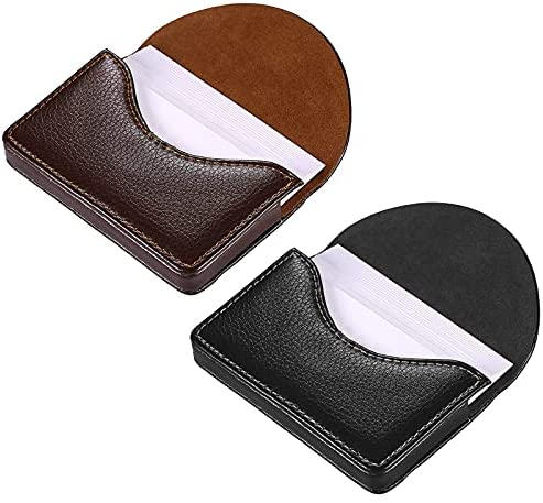 Read more about the article kiniza 2 PCS Leather Business Card Case Holder, Pocket Cards Wallet Case for Men Women Name Card Case Holder with Magnetic Shut, Holds 25 Business Cards (Black and Coffee)