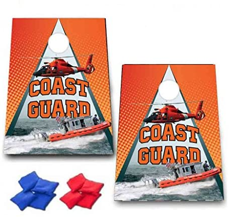 Read more about the article VictoryStore Cornhole Games – United States Coast Guard Cornhole Game – Coast Guard Bag Toss Game – 8 Bags Included – Wooden Boards