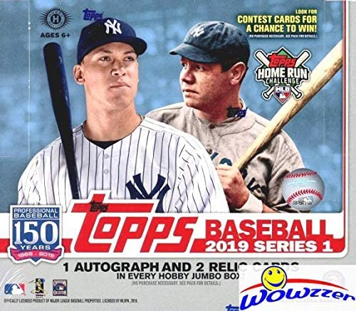 Read more about the article 2019 Topps Series 1 MLB Baseball ENORMOUS HTA HOBBY Factory Sealed JUMBO Box with 460 Cards & THREE(3) AUTOGRAPH or RELIC Cards! Absolutely Loaded with ROOKIES, AWESOME INSERTS & PARALLELS! WOWZZER!