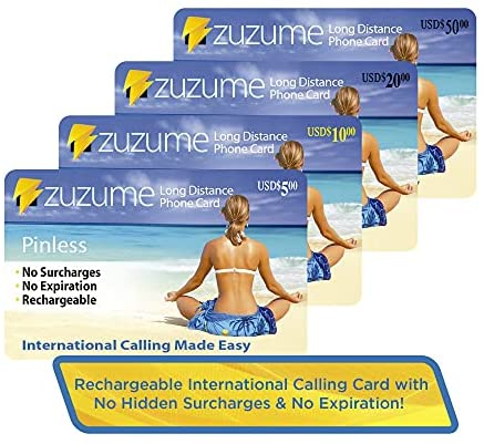 Read more about the article Zuzume International Calling Card | PINless, No Expiration, No Hidden Surcharges Prepaid Phone Long Distance Calling Cards | 5 USD
