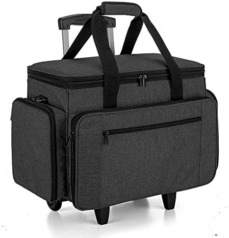 Read more about the article Luxja Sewing Machine Case with Detachable Dolly, Rolling Sewing Machine Tote with Removable Bottom Pad (Fits for Most Standard Sewing Machines), Black (Patented Design)