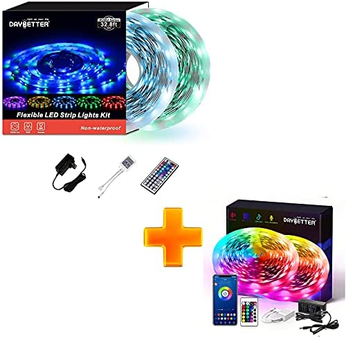 Read more about the article DAYBETTER Smart RGB Led Strip Lights with Bluetooth 50ft with Daybetter SMD 3528 Led Strip Lights (2 Rolls of 16.4ft) 32.8ft