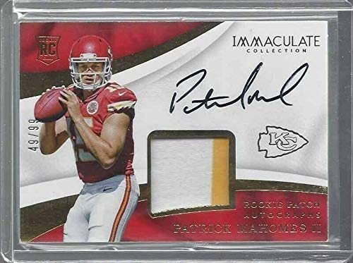 Read more about the article Patrick Mahomes Ii 2017 Panini Immaculate Rpa True Rookie Patch Auto Rc #d 49/99 – Football Slabbed Autographed Rookie Cards