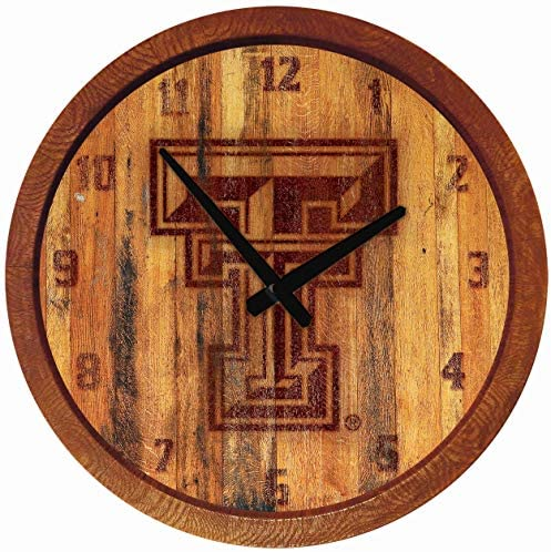 """Read more about the article Shop Grimm Texas Tech Red Raiders 20"""" Barrel Top Clock Burnt Style (Plastic)"""