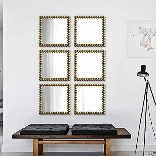 Read more about the article FHISD Antique Retro Wall-Mounted Mirror, Square Mosaic Luxury Living Room Corridor Decorative Mirror Retro Mirrors for Wall Decor