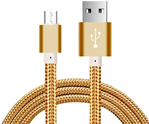 Read more about the article Micro USB Cable,5FT Long Nylon Braided Android Windows Fast Charging Charger Cord Durable USB2.0 Sync&Charging Powerline for Samsung Galaxy S7 S6 Sony LG Smartphones Gold