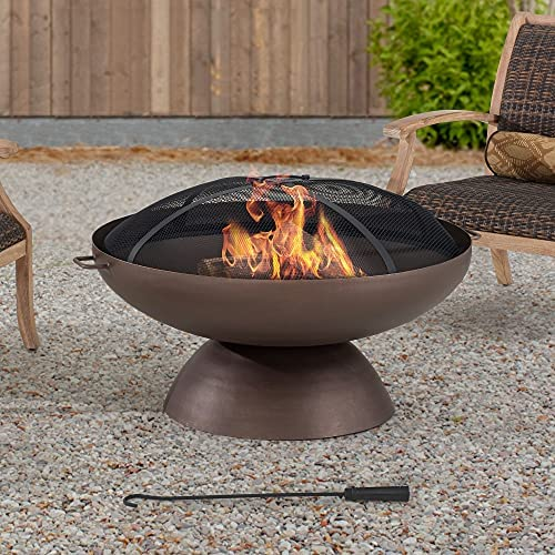 Read more about the article AmberCove Denison Extra Large 40 in. Wood-Burning Firepit