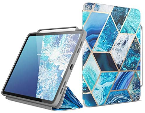 Read more about the article i-Blason Cosmo Case for New iPad Pro 11 Inch (2021/2020/2018 Release), Full-Body Trifold Stand Protective Case Smart Cover with Auto Sleep/Wake & Pencil Holder (Ocean)
