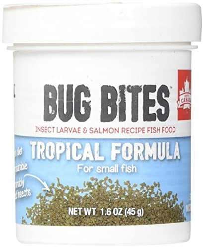 Read more about the article Fluval Bug Bites Tropical Fish Food, Small Granules for Small to Medium Sized Fish