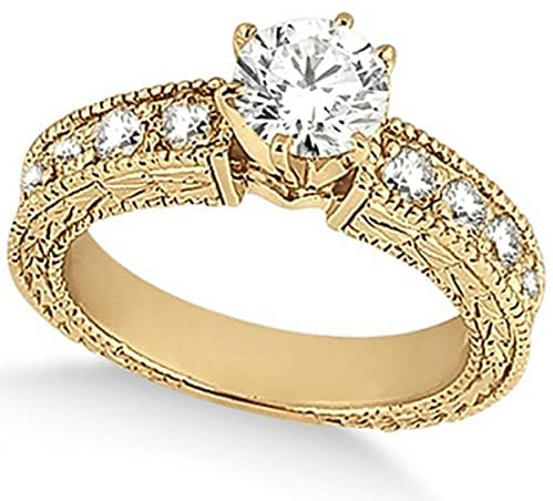 Read more about the article 18k Gold Women's Preset Vintage Heirloom Round Diamond Engagement Ring in (3.50 carat)