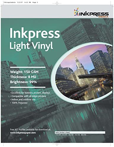 Read more about the article INKPRESS MEDIA LV42100,150GSM,8MIL, 99 Percent Bright, Photo Paper (#LV42100)
