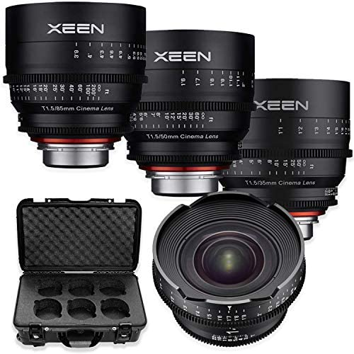 Read more about the article Rokinon's Xeen Cine Lens Bundle Including Xeen 14mm T3.1 Cine Lens, Xeen 35mm, 50mm, 85mm T1.5 Professional Cine Lenses for PL Mount Cameras by Rokinon