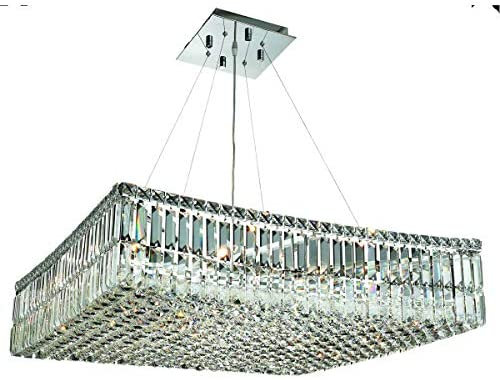 Read more about the article Elegant Lighting Maxime 28″ 12 Light Elements Crystal Chandelier