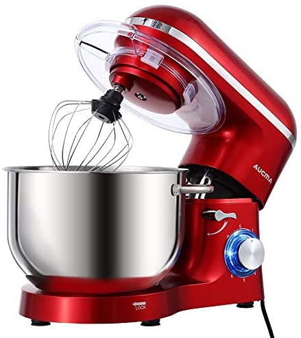 Read more about the article Aucma Stand Mixer,6.5-QT 660W 6-Speed Tilt-Head Food Mixer, Kitchen Electric Mixer with Dough Hook, Wire Whip & Beater 2 Layer Red Painting (6.5QT, Red)