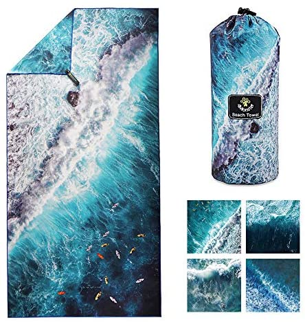 Read more about the article 4Monster Microfiber Beach Towel Quick Dry,Super Absorbent Lightweight Towel for Swimmers, Sand Free Towel, Beach Towels for Pool, Swim, Water Sports