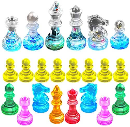 Read more about the article Palksky 16 Pcs Chess Resin Molds Kits, Chess Pieces Epoxy Resin Casting Molds, Resin Silicone Molds for Crystal 3D Chess, Silicone Molds for DIY Crafts, Customize Chess, Family Party, Outdoor Game