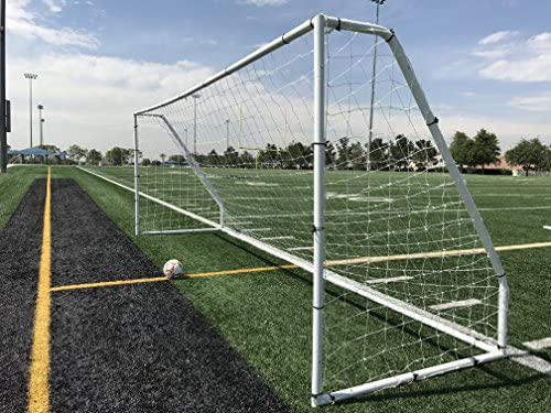 Read more about the article Pass Premier 18.5 X 6.5 Ft. Official Youth Regulation Steel Soccer Goal. 2″ Diameter Steel Frame w/Durable 4mm Net, Ground Stakes, Elastic Clasp & Re-Usable Ties. 18.5×6.5 Foot