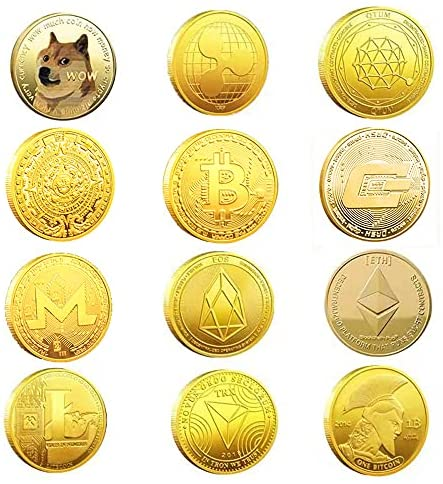 Read more about the article 12Pcs Bitcoin Coin Collector's Cryptocurrency Gift Set, Golden Blockchain Currency Collection|Bitcoin (BTC) Ethereum (ETH) Litecoin (LTC) and Dogecoin