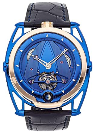 Read more about the article De Bethune Kind of Blue Mechanical (Hand-Winding) Blue Dial Watch DB28BRUS (Pre-Owned)