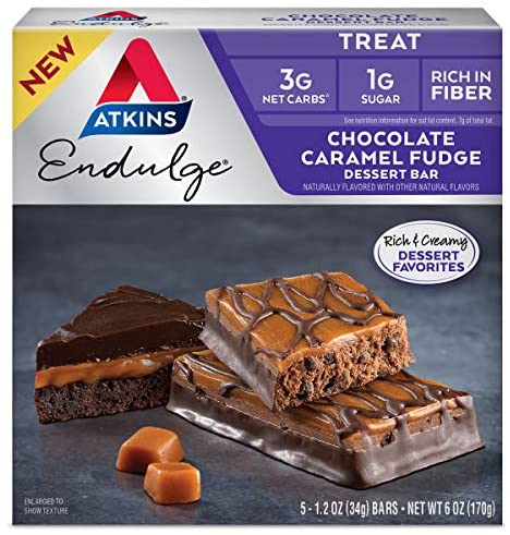 Read more about the article Atkins Endulge Treat Dessert Bar Chocolate Caramel, Fudge, 5 Count